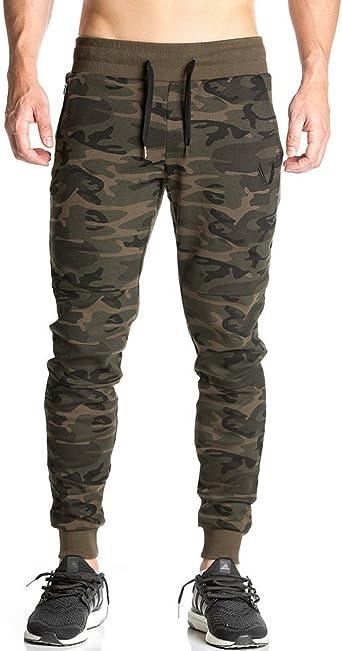 Men/'s Skinny Camouflage Pantalon De Survêtement Camouflage Pantalons de Jogging Polaire Armée gym Bottoms S-5XL