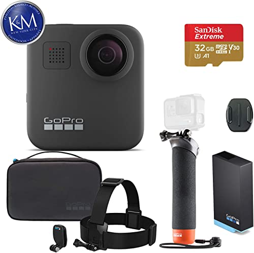 GoPro MAX 360 Action Camera w GoPro Adventure Kit and 32GB Memory Card
