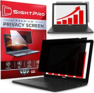 SightPro 13.3 Inch Laptop Privacy Screen Filter for 16:9 Widescreen Display - Computer Monitor Privacy and Anti-Glare Protector