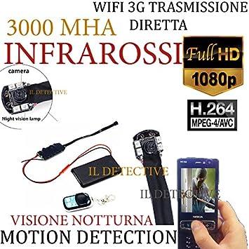 Cámara Espía WiFi Cámara Espía WiFi Mini Oculta Infrarrojos p2p Micro Camera 3 G: Amazon.es: Electrónica