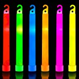 32 Ultra Bright 6 Inch Large Glow Sticks - Chem Light Sticks with 12 Hour Duration - Camping Glow Sticks - Glowsticks…