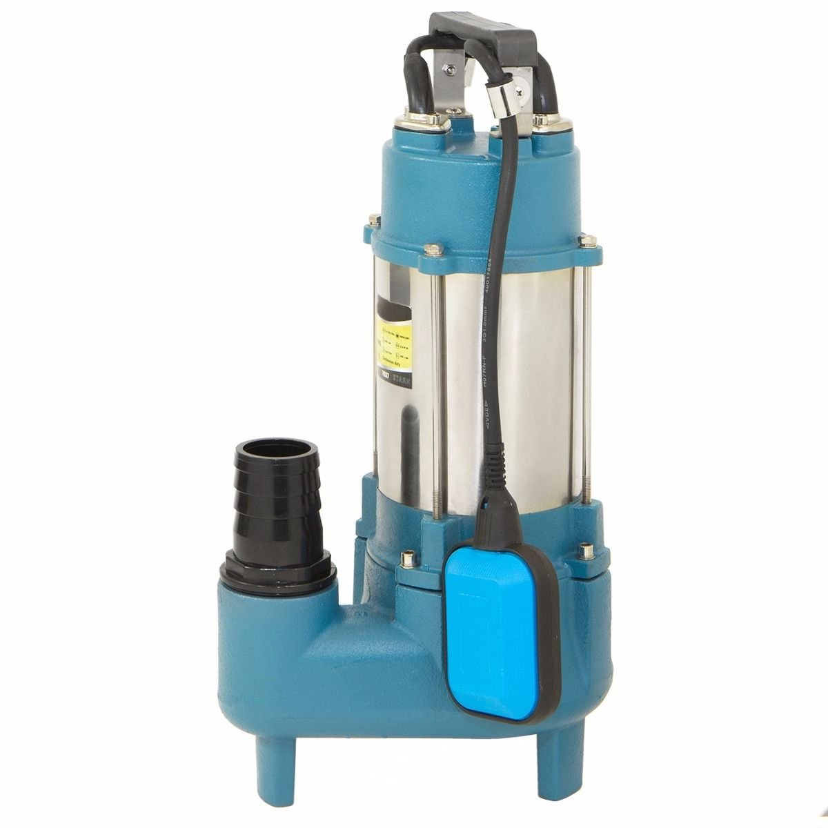 Eight24hours Submersible sewage pumps 1.5 hp sub pump 7128 GPH cast iron impeller 220v 60hz with Special Gift Alarm Clock Radio Digital