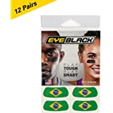 Brazil Flag Eye Black, Perfect for World Cup (24 Strips)