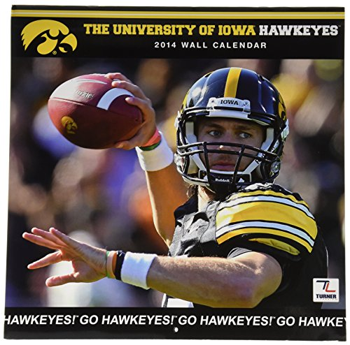 Turner - Perfect Timing 2014 Iowa Hawkeyes Team Wall Calendar, 12 x 12 Inches (8011399) (Electronic Timing Eyes compare prices)