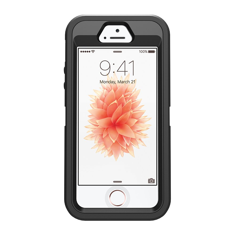 OtterBox Defender Series Case for iPhone 5/5s/SE - Black - Frustration Free Packaging by OtterBox (Image #7)