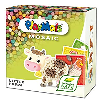 PlayMais Mosaic Little Farm Creative Arts and Crafts Kit: Toys & Games