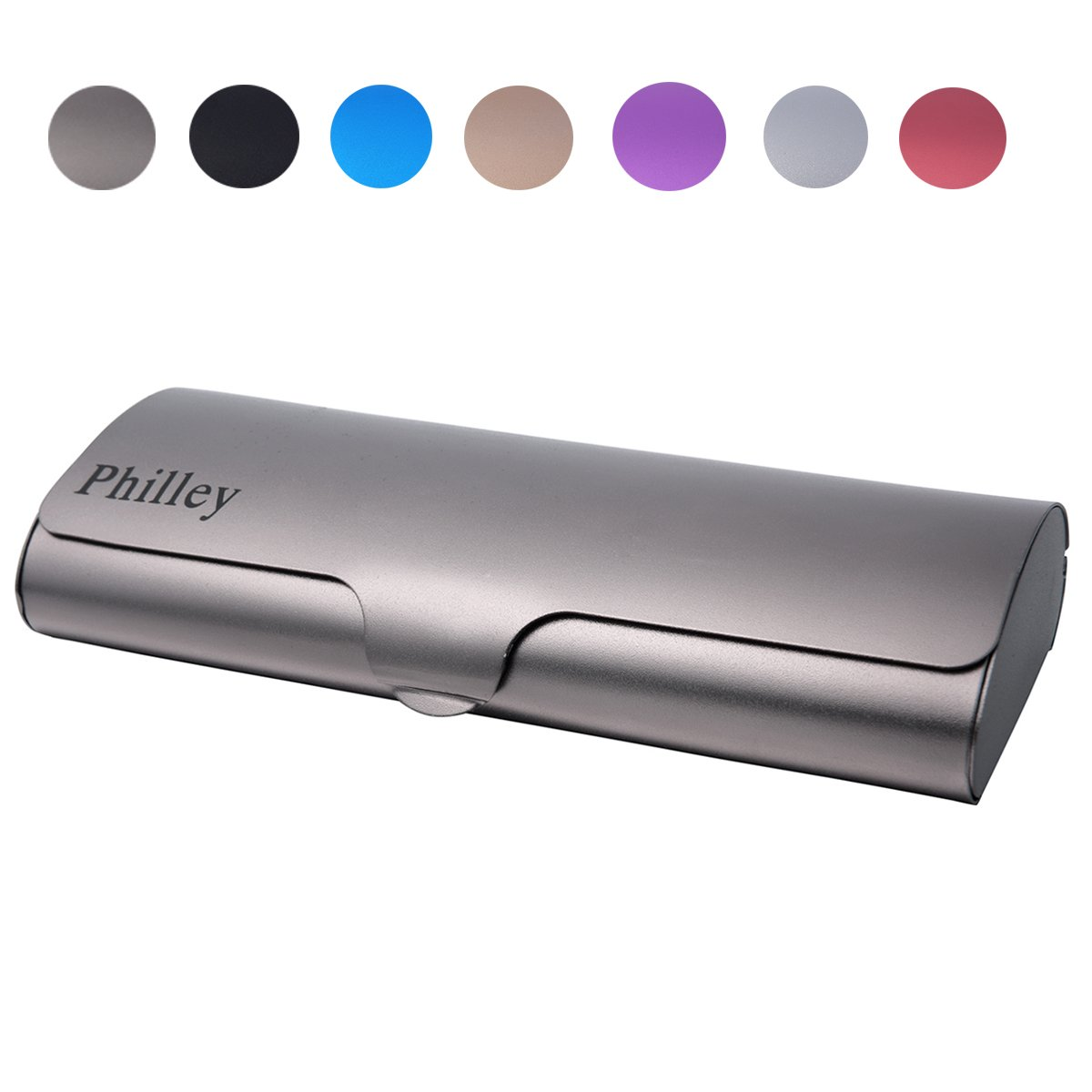 Philley Aluminum Ultra-Light Frosted Matte Hard Myopia Eyeglasses Case (Gun Gray) by Philley