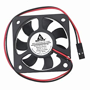GDSTIME 5Volt 50x10mm 50mm 2 Inch Dupont Connector Small Brushless Dc Cooling Fan