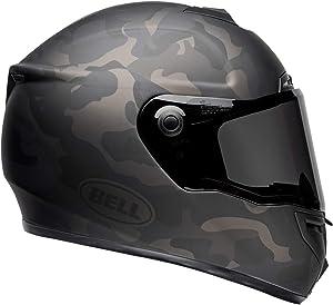 Bell SRT Street Motorcycle Helmet (Stealth Matte Black/Camo, Large)