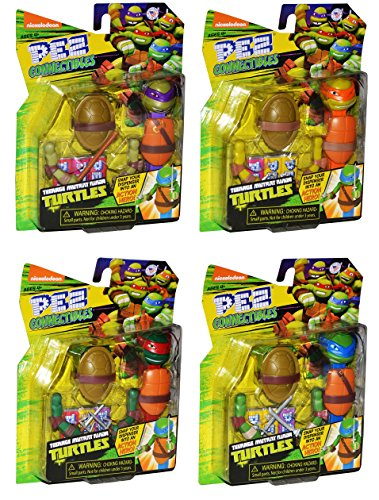 Pez Teenage Mutant Ninja Turtles TMNT Connectible Pez Dispensers Pack of 4 -