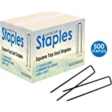 Sandbaggy 500-Count Landscape Staples ~ SOD Staples, Garden Stakes, Square Pins