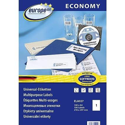 Avery ELA027 Blanco Etiqueta para impresora autoadhesiva etiqueta de impresora - Etiquetas de impresora (Blanco, Etiqueta para impresora autoadhesiva, ...