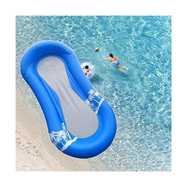 61E 6E MU8L Queta Aufblasbarer Pool, Schwimmbett Hängematte Schwimmstuhl Liegestuhl Schwimmstuhl Stuhl, Pool aufblasbare Bett…