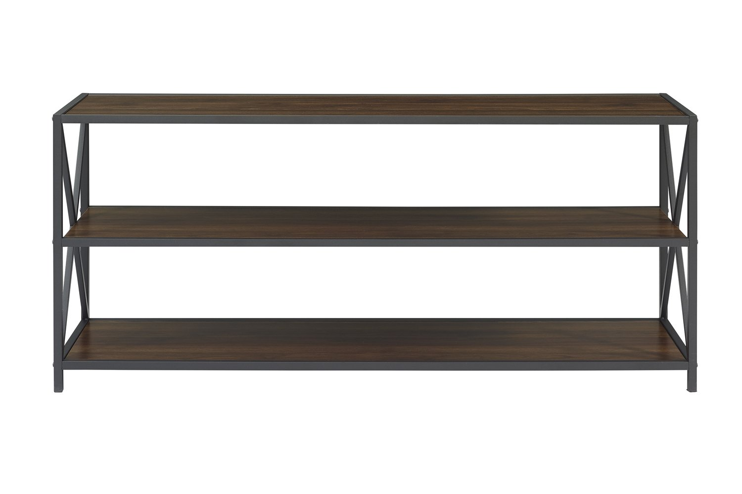 WE Furniture AZS60XMWDW Console Table, Dark Walnut