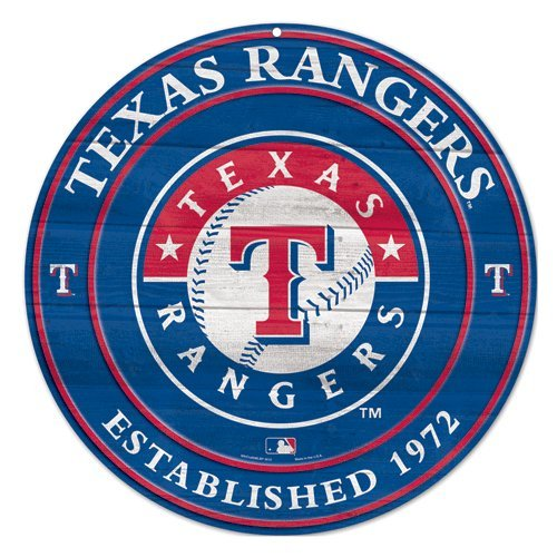 MLB Texas Rangers Wood Sign, 19.75