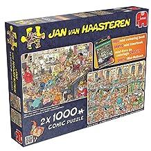 Jan Van Haasteren - 2x 1000 Comic - New Year Party & Santa's Factory