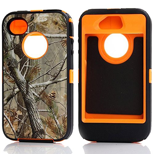 Shockproof Armor Case iPhone 4/4s (Orange) - 6