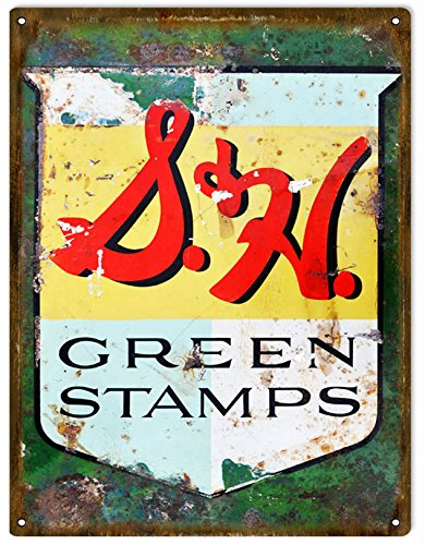 Nostalgic Reproduction S&H Green Stamps Sign for sale  Delivered anywhere in USA