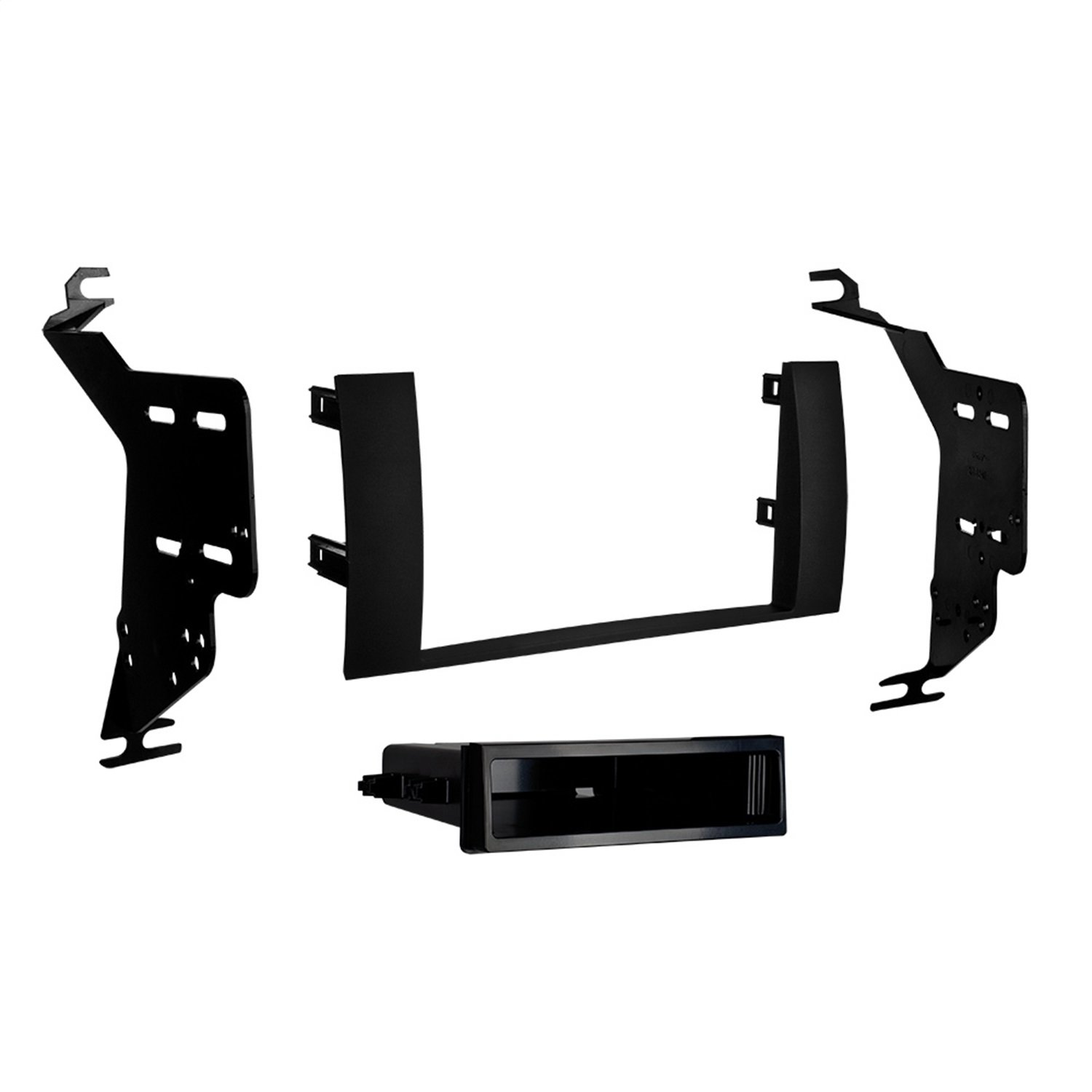 Metra 95-8240B Toyota Prius 2004-09 Black Double DIN Stereo Dash Kit (Matte black)