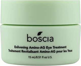 product image for boscia Enlivening Amino-AG Eye Treatment - Vegan, Cruelty-Free, Natural and Clean Skincare | Under Eye Cream for Dark Circles, Puffiness and Minimizing Wrinkles, 0.5 fl oz