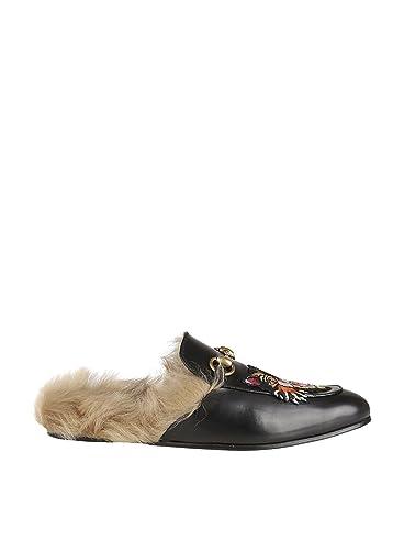 Gucci Homme 478285Dkhh01063 Noir Cuir Mocassins  Amazon.fr ... f2a8dbfec06