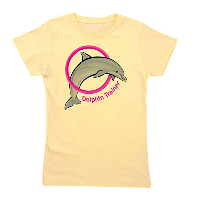 fc9c50eddc0 Amazon.com: CafePress - Dolphin Trainer Pink T-Shirt - Girl's Cotton ...
