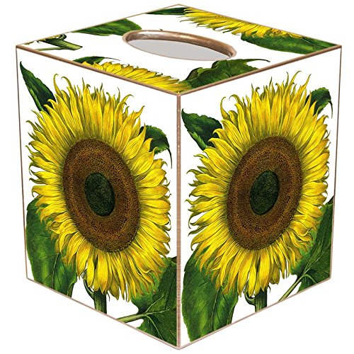 (Besler Sunflower Paper Mache Tissue Box Cover)