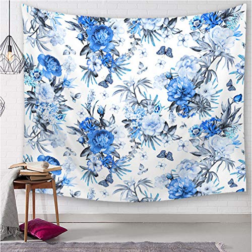 hhyyoo Elegant Floral Tapestry Bohemian Print Picture Cloth Decorative Blanket Throw 200X150Cm