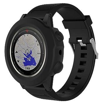 Fundas Garmin Fenix 5X Plus Silicona, Zolimx Reloj de Protector de Pantalla Case Carcasa Delgada de Repuesto para Garmin Fenix 5X Plus Smartwatch