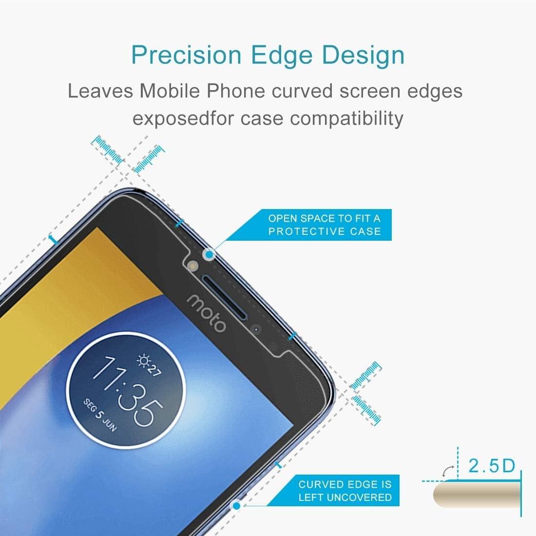 HAIJUN Phone Screen Film XINGHCEN 100 PCS for Motorola Moto E4 Plus 0.3mm 9H Surface Hardness 2.5D Explosion-Proof Tempered Glass Non-Full Screen Film Anti-Scratch Tempered Glass