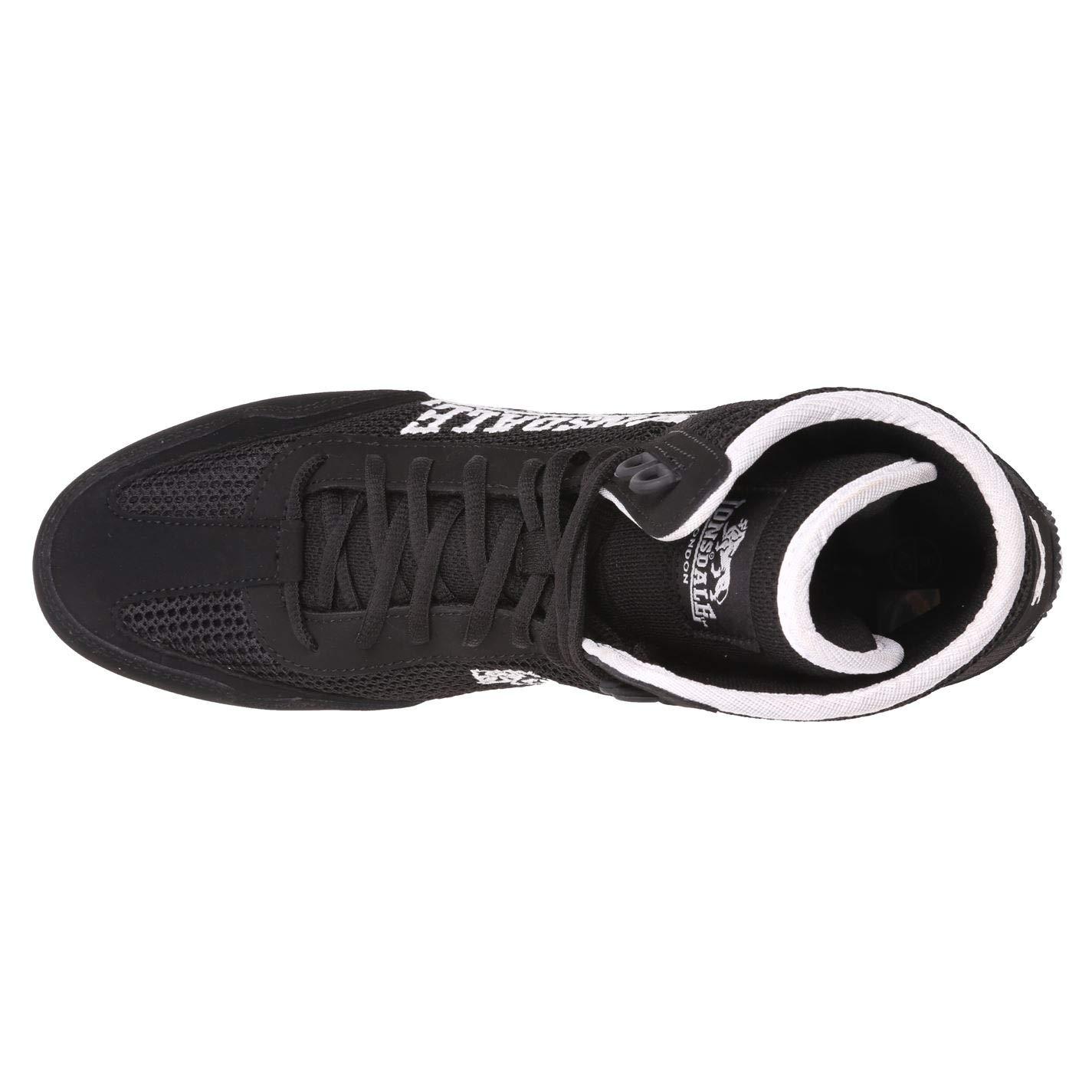 Lonsdale Kinder Jungen Contender Boxing Stiefel Schuhe Schnuerschuhe Extra Leicht