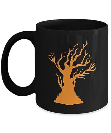 amazon com spooky halloween tree holiday coffee mug kitchen dining