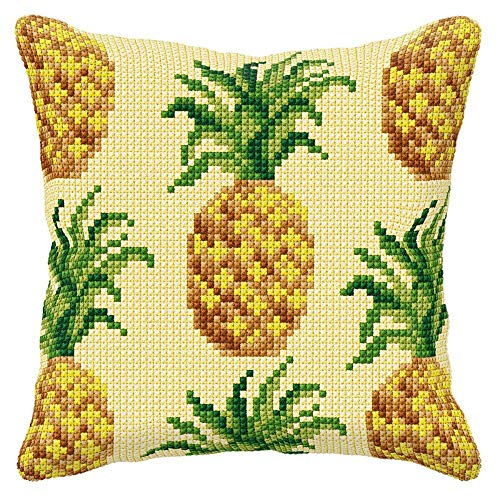 Orchidea Pineapple Pillow Cover Needlepoint ()