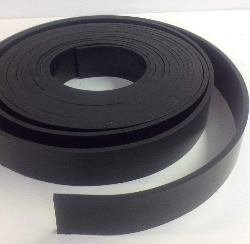 Solid Commercial Grade Neoprene Rubber Strip - .250'' thk x 3'' Wide x 25' Long