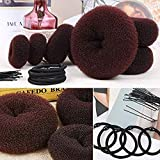 Donut Hair Bun Maker 7 Pieces, Teenitor Ring