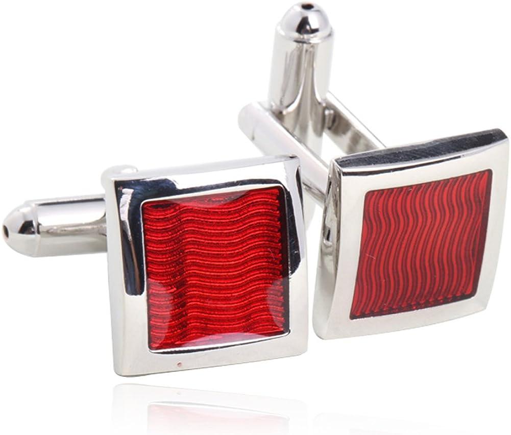 Red Enamel Cufflinks for Men Gift Boxed By Digabi