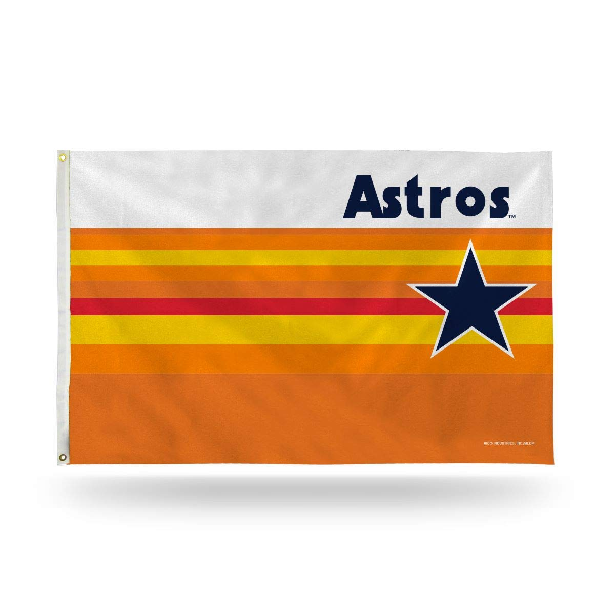 Houston Astros RETRO Design Rico 3x5 Flag grommets Outdoor House Banner  Baseball
