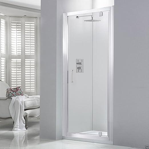 800 x 1950 mm mampara de ducha con mampara de cristal de seguridad puerta de pantalla fácil de limpiar: Amazon.es: Hogar