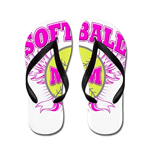 4493c5a6c5c5 Image Unavailable. Image not available for. Color  CafePress - Softball Mom  - Flip Flops ...