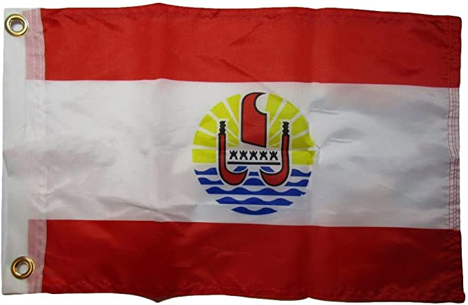 """12x18 12/""""x18/"""" French Polynesia 100/% Polyester Motorcycle Boat Flag Grommets"""