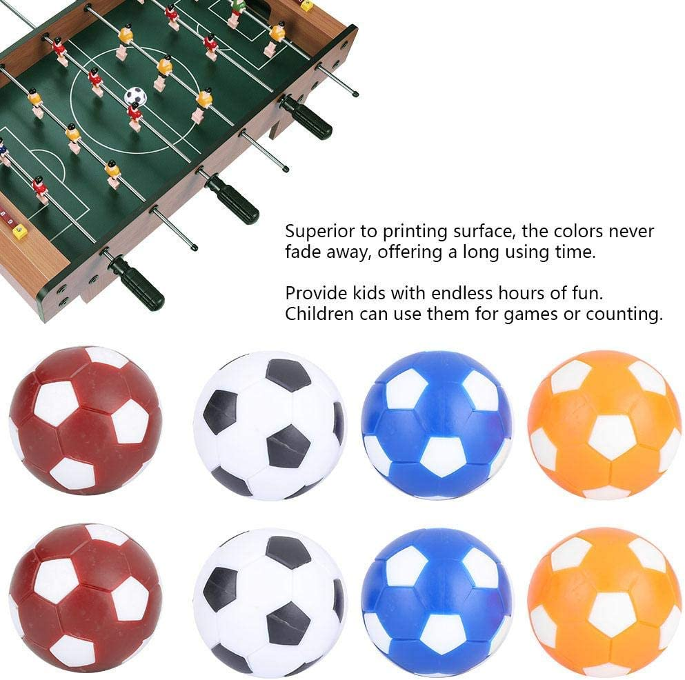 Dingln 8PCS Mini Colorful Table Soccer Footballs Replacement Balls Tabletop Game Ball 36mm