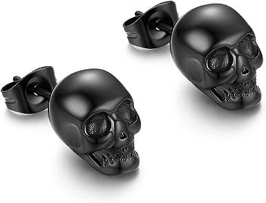 boucle d'oreille tête de mort 1
