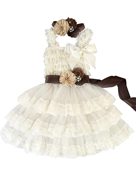 Vintage Style Children's Clothing: Girls, Boys, Baby, Toddler Rosy Kids Girl's Vintage Chic Flower Girl Lace Dress Flower Sash Hair Flower $32.99 AT vintagedancer.com