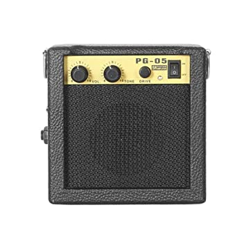 E-WAVE PG-05 5W Mini Amplificador de guitarra Amplificador de guitarra con 3 pulgadas Accesorios de guitarra para guitarra eléctrica acústica: Amazon.es: ...