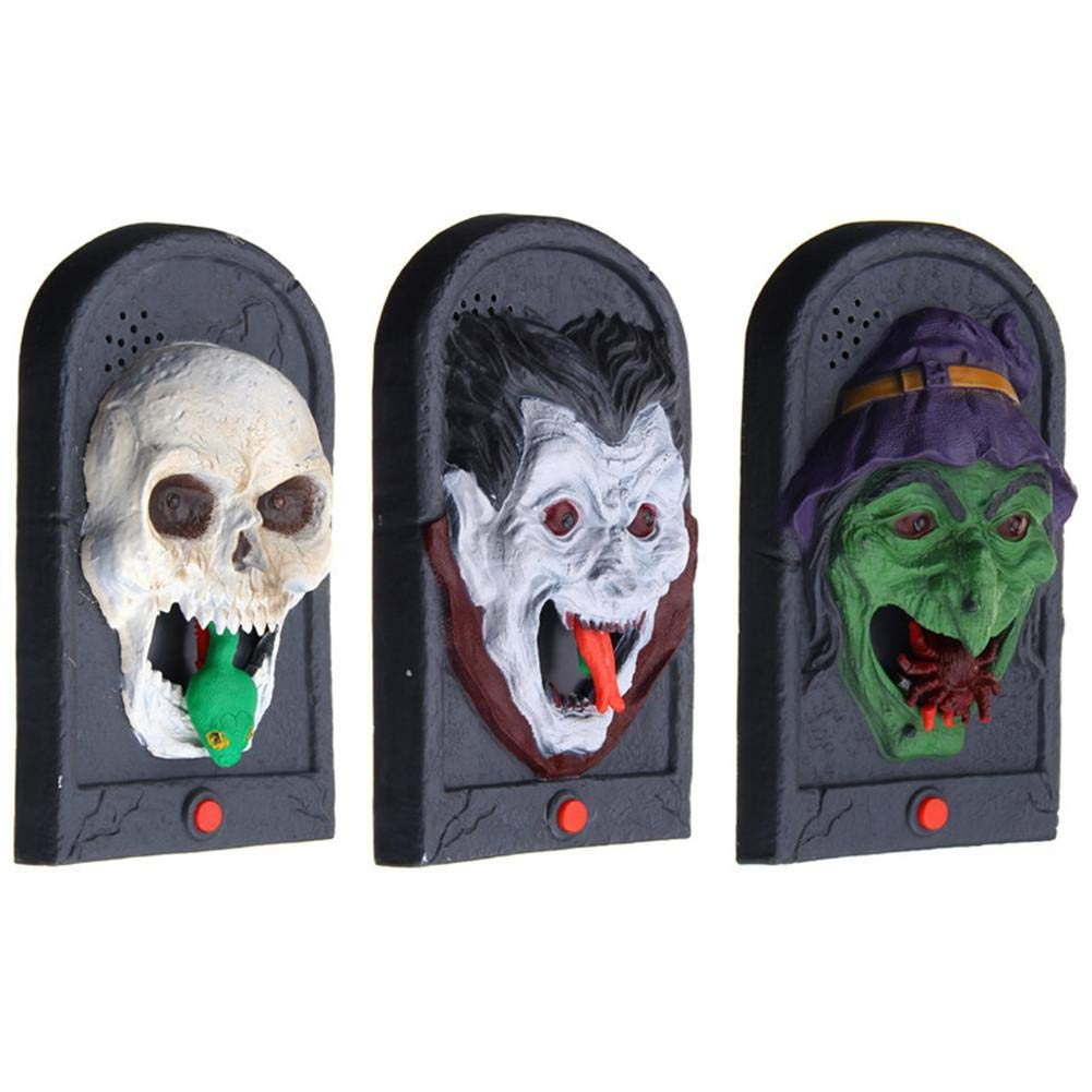 Pleasay Halloween Decorative LED Light Doorbell with Spooky Sounds Haunted House Prop Lamp Halloween Party Prop Decoration Great by Pleasay (Image #5)
