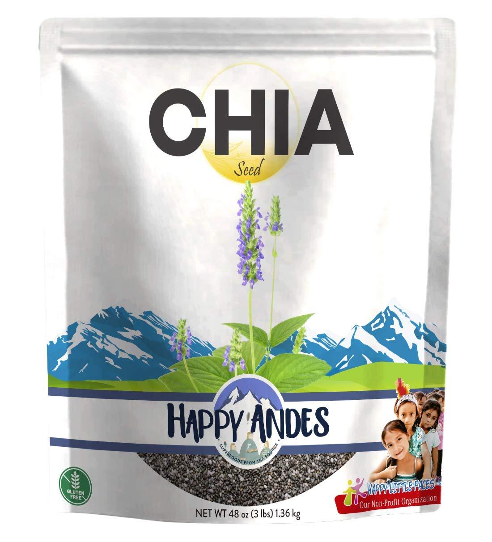 Happy Andes Premium Black Chia Seeds, 48 Oz