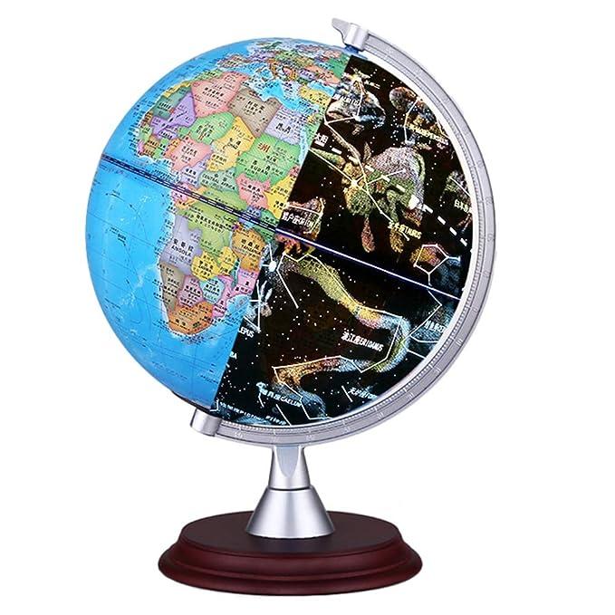 World Map 3d View.Amazon Com Foonee Ar 3d World Globe 3 In 1 Kids Illuminated Globe