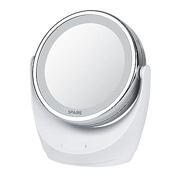 spaire espejo de maquillaje x x aumento espejo para maquillaje con luz led espejo de