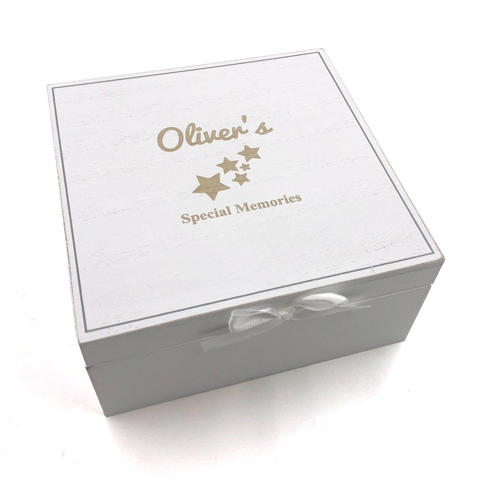 Baby Keepsakes Personalised Box Vintage Style wooden Memories ukgiftstoreonline