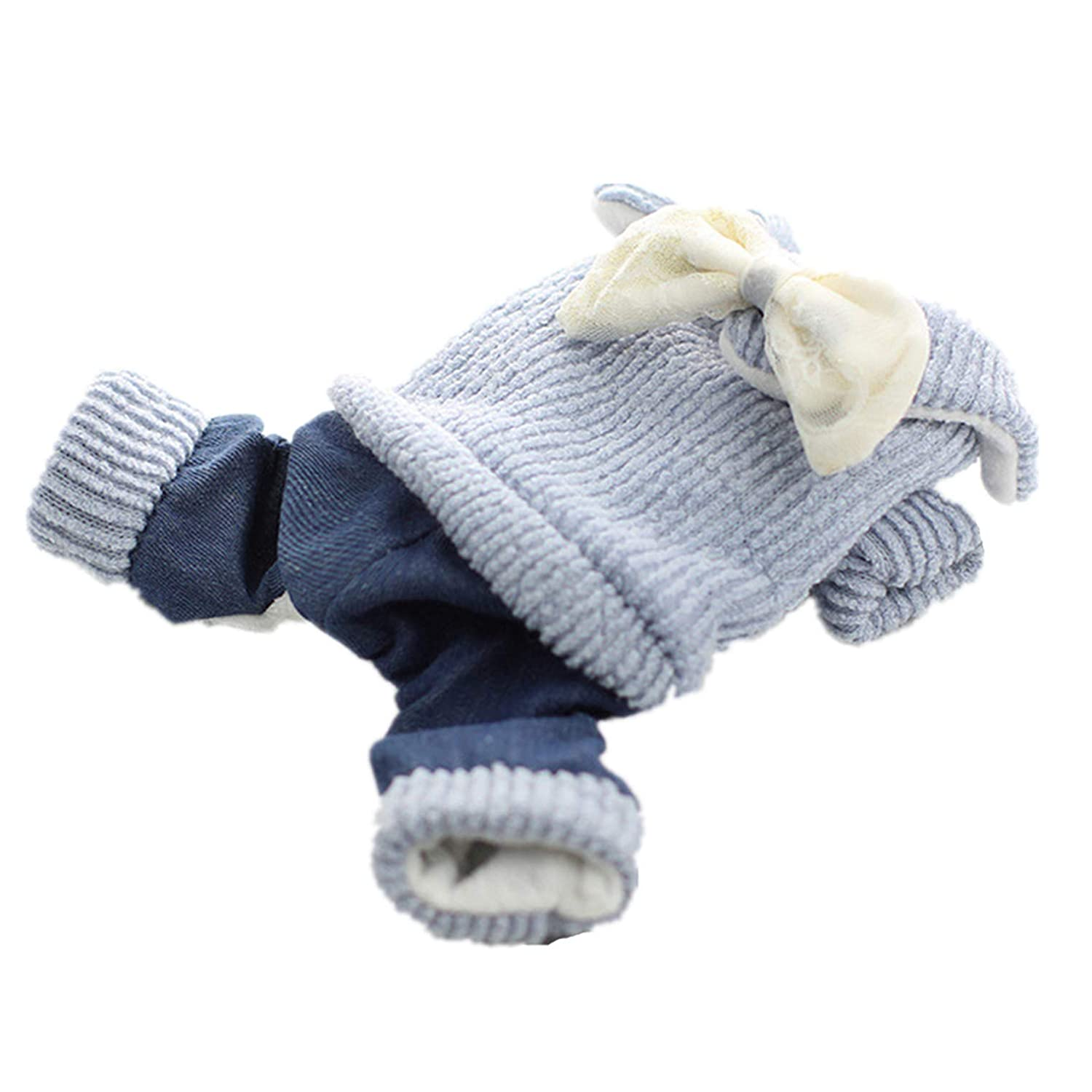 blueE XS blueE XS SENERY Winter Pet Dog Clothing Coat,Cat Jacket Coat Sweater Knitted Clothes Warm Fleece Puppy Jumpsuit Hoodie
